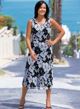 Ärmelloses-Kleid, Floral-Print