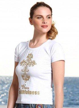 Kurzarm-Shirt, Kreuz