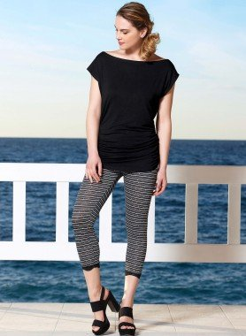 3/4-Leggings,Glitzer-Pailleten