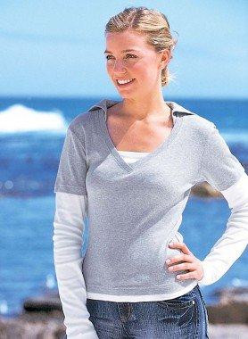 Langarm-Kapuzen Shirt
