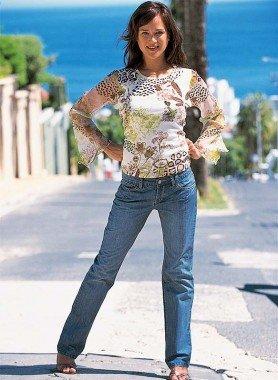 5-Pocket-Jeans, Ziernähte Blue Denim