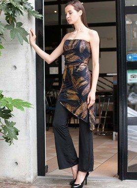 Hosen-Kleid, Voile-Überkleid