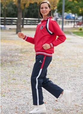 Jogging-Anzug, rot/marine