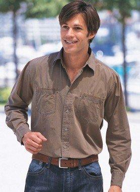 Langarm-Hemd, 2-Brusttaschen