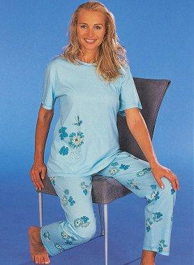 Kurzarfm-Pyjama, Floral