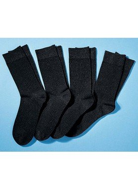 City-Socken Stretch-Qualität, 4 Stück