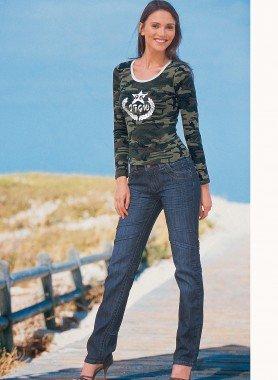 5-Pocket-Röhrli-Jeans, Sitzfalten