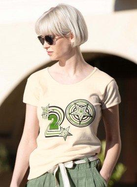 """Kurzarm-Shirt, Front-Print """"20"""""""