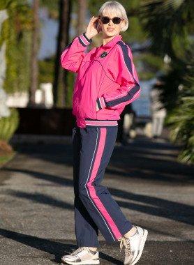 Jogging-Anzug, fuchsia/marine