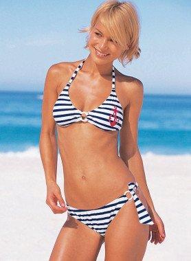 Bikini, gestreift