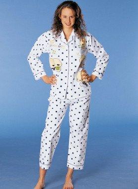 Langarm-Pyjama, Tupfen/Comic