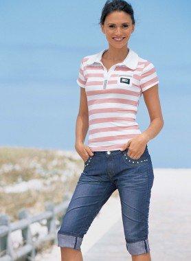 Capri-Jeans, Strass
