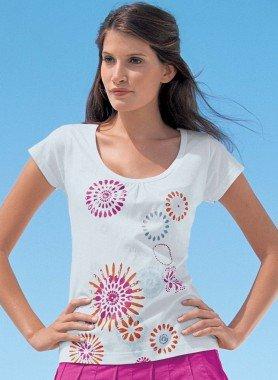 Kurzarm-Shirt, Fantasie-Print