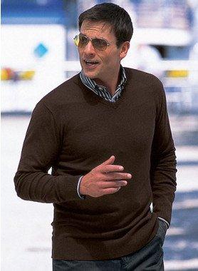 Feinstrick-Pullover, V-Ausschnitt