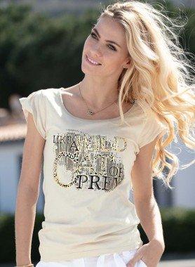 Kurzarm-Shirt, Safari-Print