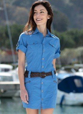 Kleid-Jeans-Look