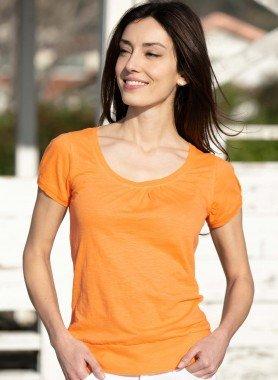 Kurzarm-Shirt, Flammgarn-Look