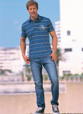 5-Pocket-Jeans, Knopfverschluss