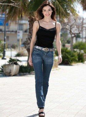 5-Pocket-Jeans, inklusive Gurt