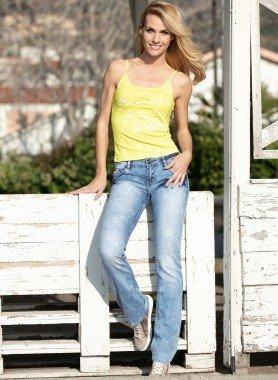 5-Pocket-Jeans, verschlagen