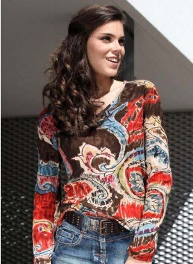 Langarm-Shirt,Multicolor