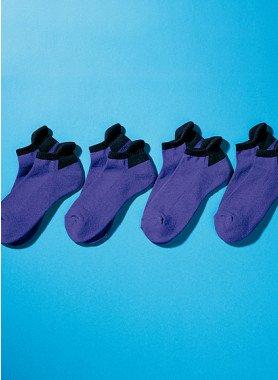 Damen-Sneakers, Sohlen verstärkt, 4 Paar