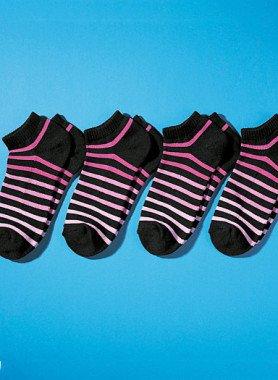 Colorringel-Sneakers 4 Paar