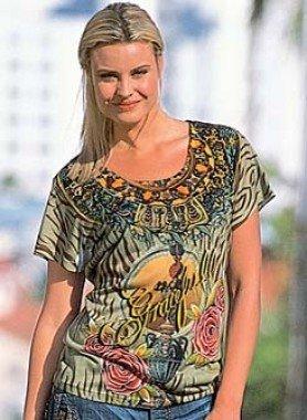Kurzarm-Shirt, Color-Print