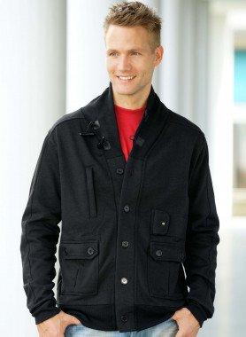 Jacke Schalkragen, Sweat-Qualität