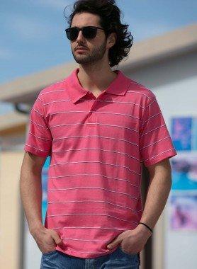 Kurzarm-Polo-Shirt, Streifen