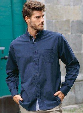 Langarm-Hemd, Button-Down, Brusttasche