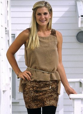 Top/Kleid, Leopard