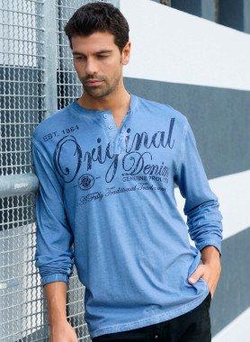 Langarm-Serafino-Shirt