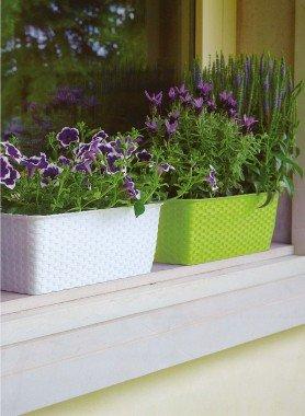 Blumen-Kiste geflochten 2 Stück