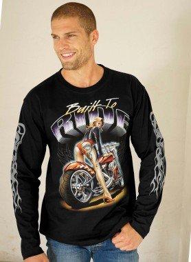 Langarm-Shirt, Girl&Bike