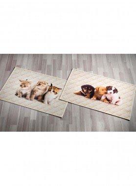 Teppichvorlage,Katzen 65x110cm - 1 - Ronja.ch