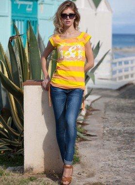 5-Pocket-Jeans 3-fach-Nähte