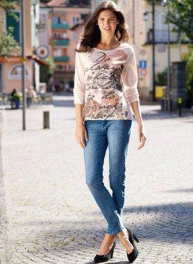 Stretch-Jeans Beinabschluss mit Reissverschluss