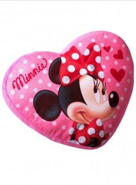"""Herz-Kissen""""MINNIE""""38x35cm - Minnie Maus / Disney / Lila  - Ronja.ch"""