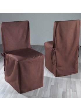 Stuhl-Überzug,2er Set braun - 1 - Ronja.ch