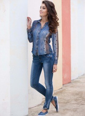5-Pocket Jeans Stretch-Qualität, Röhrliform