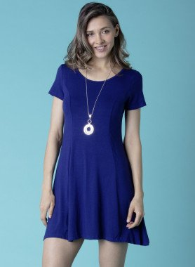 Kurzarm-Kleid Jersey-Qualität