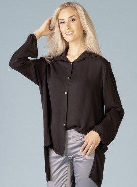 Langarm-Bluse, langer Rücken