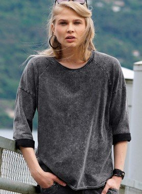 D-Sweattop,used-Wash anthrazit L 013 - 1 - Ronja.ch