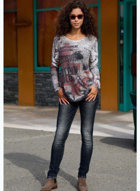 D-5-Poket Jeans, Black-Denim 34 012 - 1 - Ronja.ch