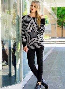 D-Jeans-Treggings, Black-Denim L 012 - 1 - Ronja.ch