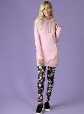 Leggings farbiges Rosendessin