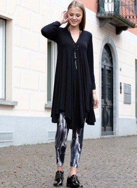 Leggings marmoriertes Dessin schwarz/grau/offwhite