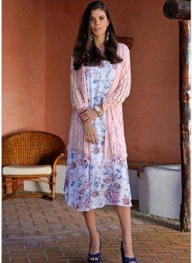 Ärmelloses-Kleid, Rosen