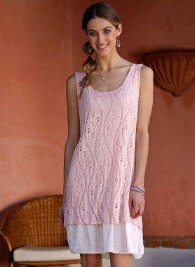 Äermelloses-Kleid, Netzli-Optik